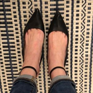 Alexander Wang pointed leather straps kitten heels